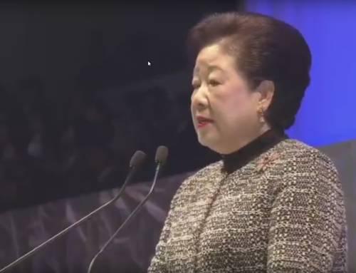 Moder Moon taler i Nagoya